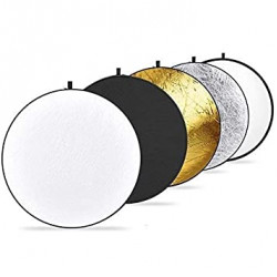 """5 In 1 Light Multi Collapsible Reflector 107cm (42"""")"""